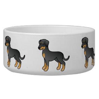 Ennegrezca y broncee el Doberman/el perro alemán Comedero Para Mascota