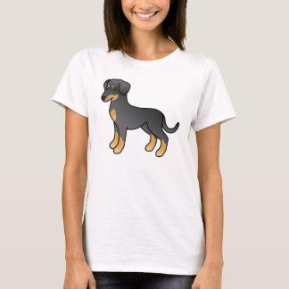 Ennegrezca y broncee el Doberman/el perro alemán Playera