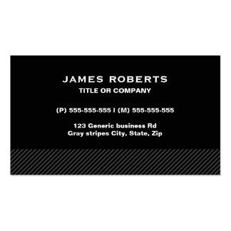 Ennegrézcase con las rayas grises, masculino simpl tarjeta de visita