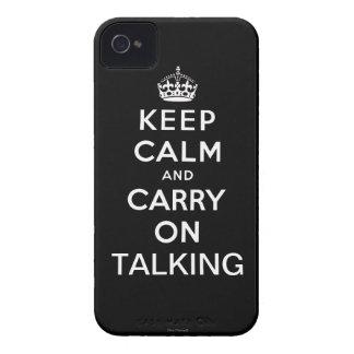 Ennegrézcase guardan calma y continúan el hablar funda para iPhone 4