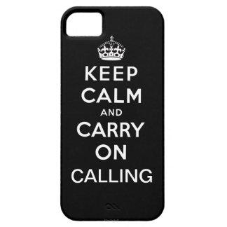 Ennegrézcase guardan calma y continúan el llamar funda para iPhone SE/5/5s