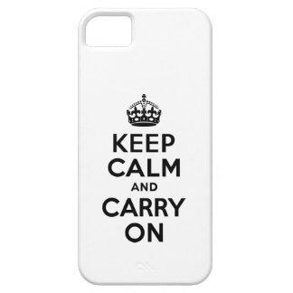 Ennegrézcase mantienen tranquilo y continúan la ca iPhone 5 carcasa