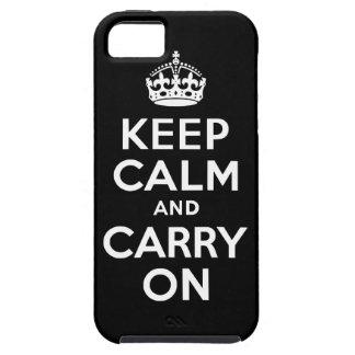 Ennegrézcase mantienen tranquilo y continúan la ca iPhone 5 Case-Mate cárcasa