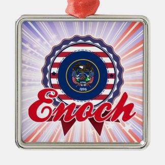Enoch, UT Square Metal Christmas Ornament