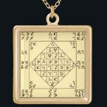 """Enochian Lamen Pendant<br><div class=""""desc"""">Large Golden Finish Enochian Lamen Pendant</div>"""