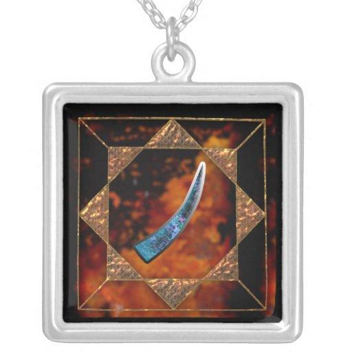 """enochian letter """"gisg"""" (t) pendants"""