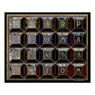 Enochian Tablet of Union Poster