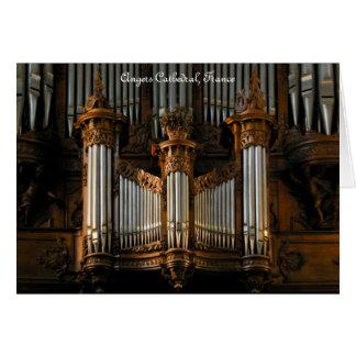Enoja el órgano, Francia Felicitacion