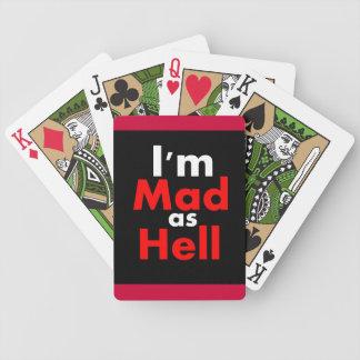 Enojado como infierno baraja de cartas