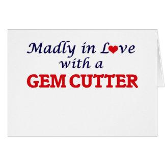 Enojado en amor con un cortador de gema tarjeta de felicitación