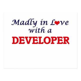 Enojado en amor con un desarrollador postales