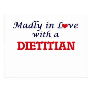 Enojado en amor con un dietético postal