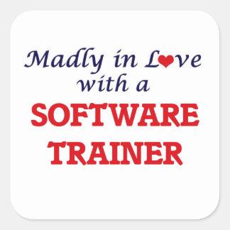 Enojado en amor con un instructor del software pegatina cuadrada