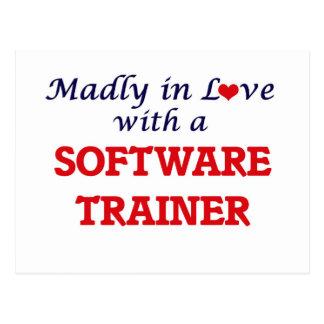 Enojado en amor con un instructor del software postales