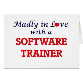Enojado en amor con un instructor del software tarjeta de felicitación