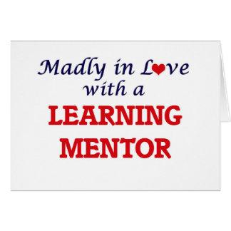 Enojado en amor con un mentor de aprendizaje tarjeta de felicitación
