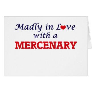 Enojado en amor con un mercenario tarjeta de felicitación