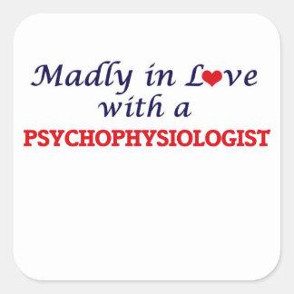 Enojado en amor con un psicofisiólogo pegatina cuadrada