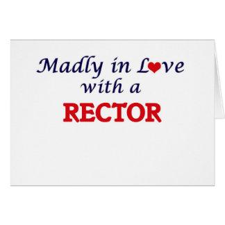 Enojado en amor con un rector tarjeta de felicitación
