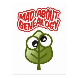 Enojado sobre la genealogía tarjeta postal