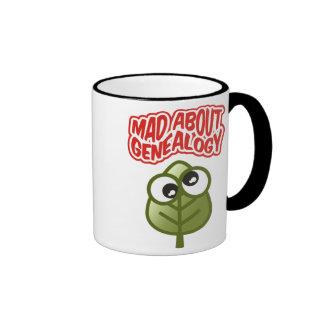 Enojado sobre la genealogía taza de café