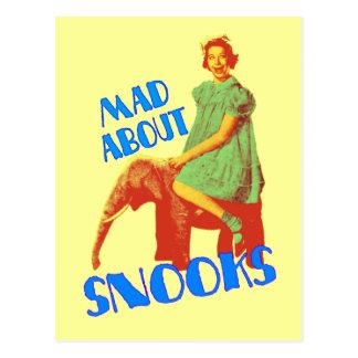 Enojado sobre la postal de los Snooks