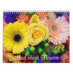 Enojado sobre las flores calendarios