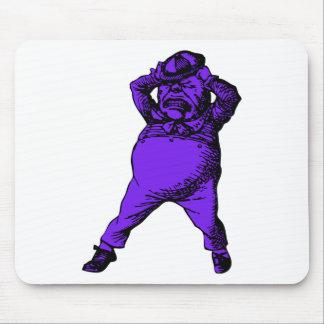 Enojado Tweedle el terraplén púrpura entintado Dee Tapetes De Ratón
