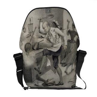 Enoje en la cocina, de una serie de depi de las im bolsa de mensajería