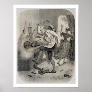 Enoje en la cocina, de una serie de depi de las im póster