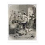 Enoje en la cocina, de una serie de depi de las im postal