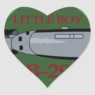 ENOLA GAY B-29 LITTLE BOY SPECIAL DELIVERY 4 Patch Heart Sticker
