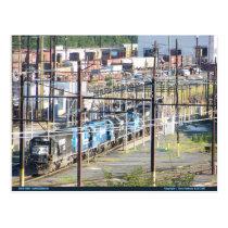Enola Norfolk Southern Railroad Yard Harrisburg PA Postcard