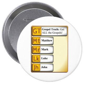 Enorme, botón redondo de 4 pulgadas pin redondo de 4 pulgadas
