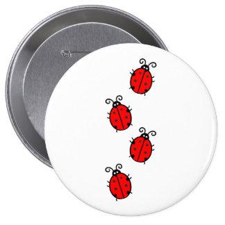 Enorme, imagen redonda del botón de 4 pulgadas pin redondo de 4 pulgadas