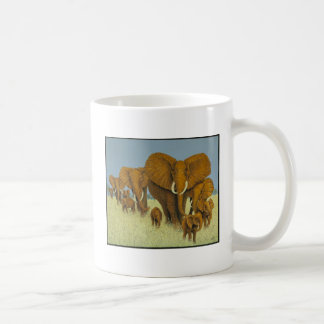 Enormous but caring classic white coffee mug