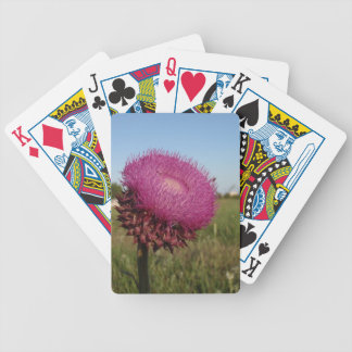 Enormous Purple Thistle Bicycle Poker Cards