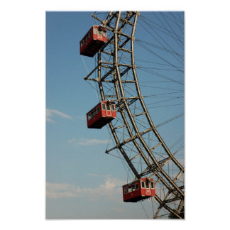 Enormous Red Ferris Wheel Poster