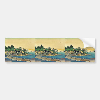 Enoshima en la provincia de Sagami de Katsushika H Pegatina Para Auto