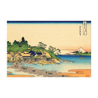 Enoshima in Sagami Province Canvas Prints