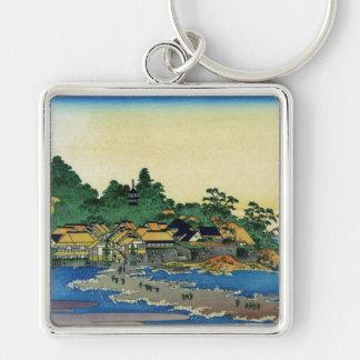 Enoshima in Sagami Province,  Katsushika Hokusai Key Chains