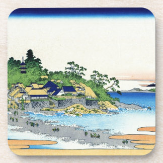 Enoshima in the Sagami province Katsushika Hokusai Beverage Coaster