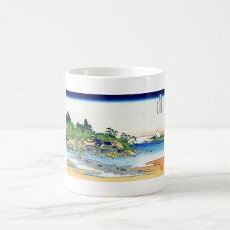 Enoshima in the Sagami province Katsushika Hokusai Classic White Coffee Mug