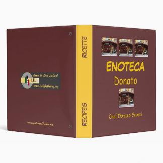 Enoteca Donato Recipe Folder