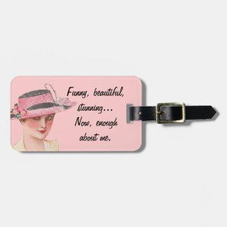 Enough About Me Bag Tag