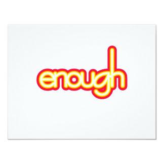 Enough (bright) card