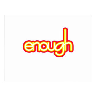 Enough (bright) postcard