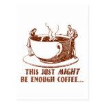 Enough Coffee? Post Card