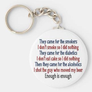 Enough is Enough Key Chains