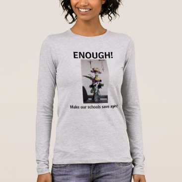 Lawyer Themed Enough Ladies Tee with Iris